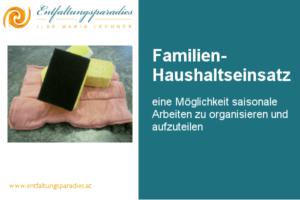 Familien-Haushaltseinsatz