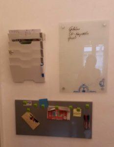 Familienalltag vereinachen, Posteingang, Einkaufsliste, Informationswand