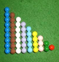 Montessori-Arithmetikmaterial-1, Perlentreppchen
