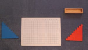 Montessori-Arithmetikmaterial-2, Streifenbrett-Addition