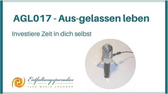 Investiere in dich selbst